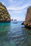Loh samah zatoki błękitnej laguny snorkeling punkt przy krabi Tajlandia Fotografia Stock