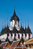 Loha Prasat, το παλάτι μετάλλων, Μπανγκόκ Ταϊλάνδη Στοκ εικόνα με δικαίωμα ελεύθερης χρήσης