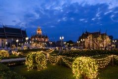 Loha Prasat illuminated at twilight, Thailand Stock Photography