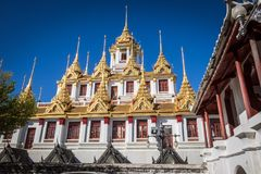 Loha Prasat iron monastery in Wat Ratchanatdaram Temple of th Royalty Free Stock Images