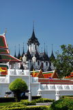 Loha Prasat Metal Castle or Iron Temple  in Bangkok Royalty Free Stock Photo