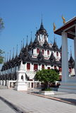 Loha Prasat Metal Castle or Iron Temple  in Bangkok Royalty Free Stock Image