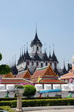 Loha Prasat Metal Castle or Iron Temple  in Bangkok Stock Photo