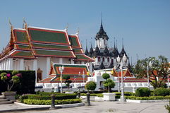 Loha Prasat Metal Castle or Iron Temple  in Bangkok Stock Photos