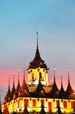 Loha Prasat Metal Palace. In Bangkok Thailand Stock Photos