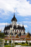 Loha Prasat Metal Palace in Bangkok Royalty Free Stock Photography