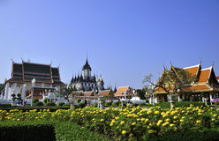 Loha Prasat Metal Palace in Bangkok Stock Photography