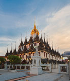 Loha Prasat Metal Palace in Wat Ratchanaddar temple. Royalty Free Stock Photos