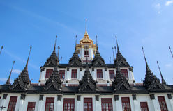 Loha Prasat Metal Palace in Wat Ratchanatdaram Worawihan, Bangkok Thailand. Royalty Free Stock Photos