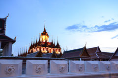 Loha Prasat ( Metallic castle ). Twilight view of metallic castle Stock Photography