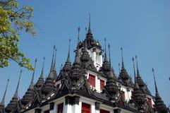 Loha Prasat metalu kasztel lub żelazo świątynia w Bangkok Obraz Royalty Free