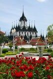 Loha Prasat o palacio del metal, Bangkok fotografía de archivo
