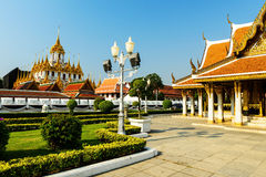 Loha Prasat of Wat Ratchanadda, Bangkok Royalty Free Stock Images