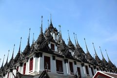 Loha Prasat Wat Ratchanatanaram Worawihan photo stock