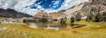 Lohan Tso - holy lake in Himalayas, India Royalty Free Stock Images