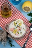 Lohikeitto Finnish salmon and potato soup Royalty Free Stock Photography
