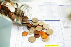 Lohn der medizinischen Rechnung Stockfotografie