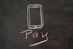 Lohn durch Mobile Stockfoto
