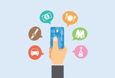 Lohn mit Kreditkarte Stockfotos