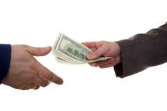 Lohngeld Lizenzfreies Stockfoto