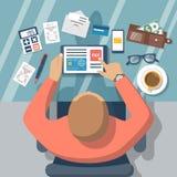Lohnlisten on-line Stockbild