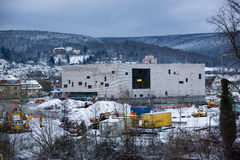 Lohr am Main, Germany - Construction site of the New Town Hall Stock Photo