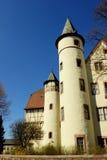 Lohr A. strömförsörjning (Tysklandet) - slott av Spessart arkivfoton