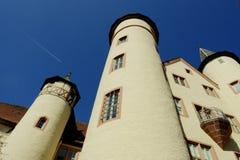 Lohr A. strömförsörjning (Tysklandet) - slott av Spessart Royaltyfri Fotografi