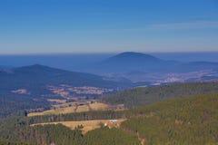 Lohrberg, Winter landscape around Bayerisch Eisenstein, ski resort, Bohemian Forest (Šumava), Germany. A Picture of the spring landscape around Lohrberg Royalty Free Stock Image