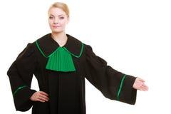 loi Avocate de femme dans l'accueil de invitation de robe polonaise images libres de droits