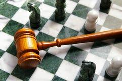 Loi d'échecs Photographie stock