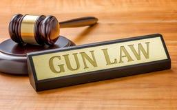 Loi d'arme à feu photographie stock libre de droits