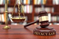 Loi d'intimité Photos libres de droits