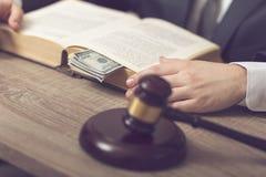 Loi et corruption Images stock