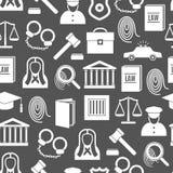 Loi et juge Seamless Pattern Background de silhouette Vecteur Image stock