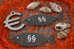 Loi européenne de pêche photographie stock