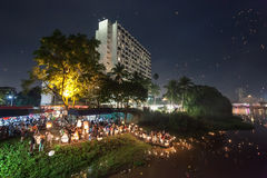 Loi Krathong festival Royalty Free Stock Photo