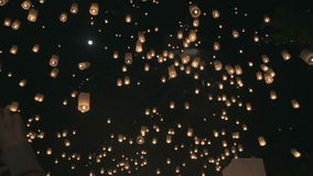 Loi Krathong stock video footage