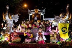Loi Krathong 2014 Festival in Chiang Mai, Thailand Royalty Free Stock Photography