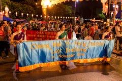 Loi Krathong 2014 Festival in Chiang Mai, Thailand. Loi Krathong festival street parade in Chiang Mai in 2014 Royalty Free Stock Photo