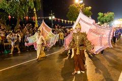 Loi Krathong 2014 Festival in Chiang Mai, Thailand. Loi Krathong festival street parade in Chiang Mai in 2014 Stock Photos