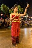 Loi Krathong 2014 Festival in Chiang Mai, Thailand. Woman at the Loi Krathong festival street parade in Chiang Mai in 2014 Stock Photo
