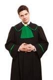loi Mandataire d'avocat d'homme dans la robe polonaise d'isolement photo stock