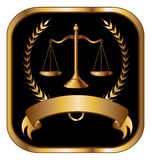 Loi ou avocat Seal Gold Photo stock