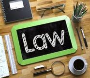 Loi sur le petit tableau 3d Image libre de droits