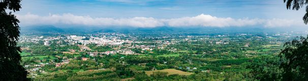 Loie city province on top view from Pru Bo Bid Mountain view. Point. Loei province have top tourist attraction land mark in thailand such as Chiang Khan, Phu stock images