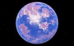 Loin planète fantastique d'Exo Image libre de droits