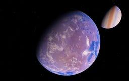 Loin planète fantastique d'Exo Image stock