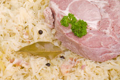 Loin ribs with sauerkraut Royalty Free Stock Photo