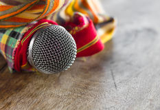 Loincloth with microphone. Stock Images